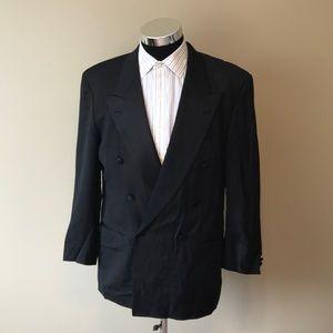 Hugo boss men's 40R black tuxedo suit super 100